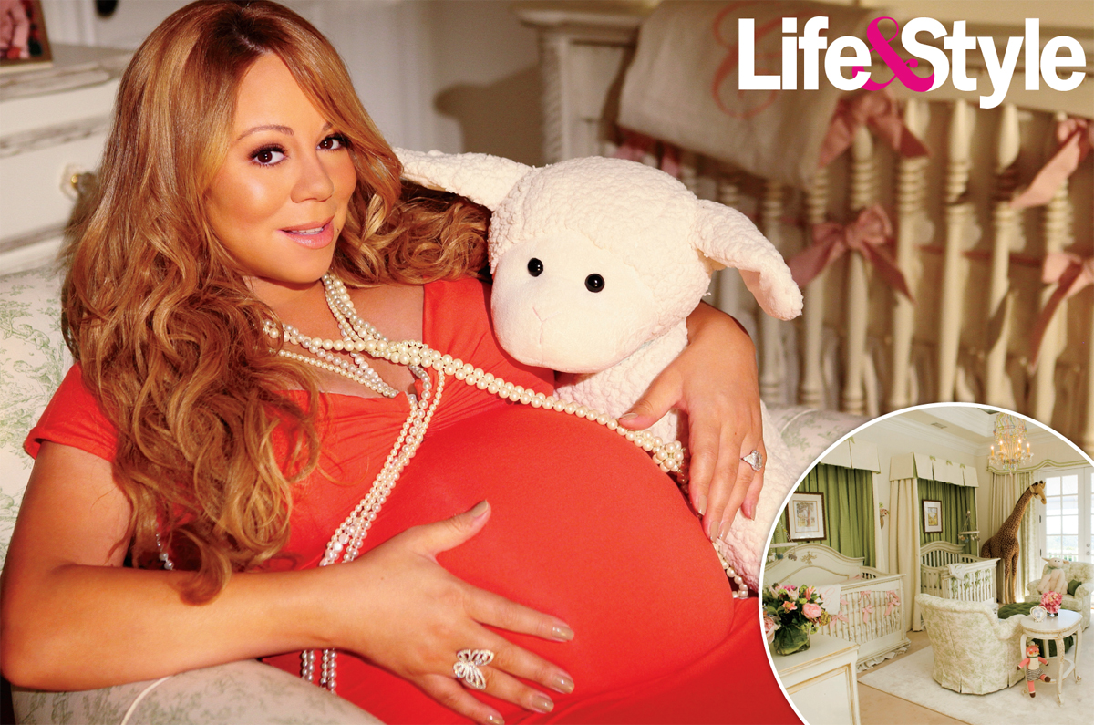 mariah carey pregnant belly. Mariah Carey Bares Her