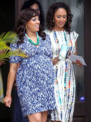 tia mowry baby shower photos. Tia and Tamera Mowry